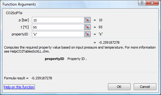 Calculate CO2TablesSci properties