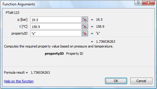 Calculate R123Tables properties